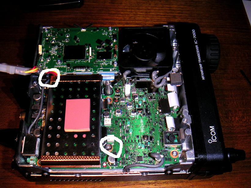 Icom IC-7000 (USA) MARS/CAP Modification